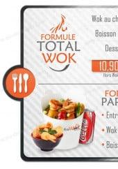Menu Fire Wok - Les formules