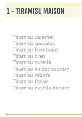 Menu Le Tacos de Grenoble - Tiramisu