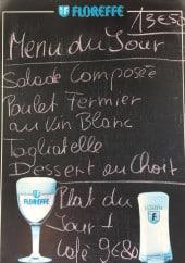 Menu Le Verseau - Le menu du jour