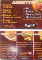 Menu O'naan - Assiettes, tacos, burger et sandwiches