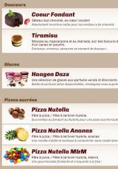 Menu Pizzélino - Les desserts