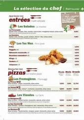 Menu Pizzélino - Les entrées et pizzas