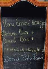 Menu Carré Rouge - Un exemple de menu