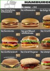 Menu Béji - Les hamburgers, les tacos, les bagels...