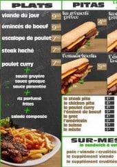 Menu Béji - Les plats, les pitas, les paninis...