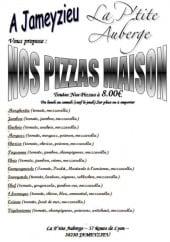 Menu La P'tite Auberge - Les pizzas