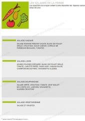 Menu Lison - Les salades