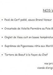 Menu Le Tablier Bariolé - Les viandes
