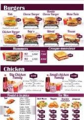 Menu Flex - Les burgers et les chicken