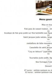 Menu Au Coq en Velours - Le menu gourmand