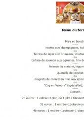 Menu Au Coq en Velours - Le menu du terroir