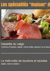 Menu Restaurant Le Valgo - Les spécialités maison du Valgo