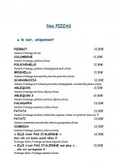 Menu La Bel Excuse - Pizzas