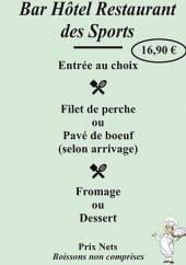 Menu Hotel Bar des sport - Garino - Le menu à 16,9€