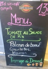 Menu L'Argentelle - Un exemple de menu
