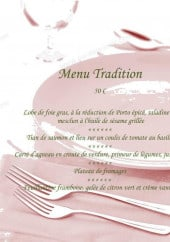 Menu La Germandrée - Le menu tradition