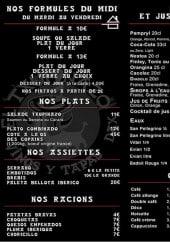 Menu El Txupinazo - Plats, accompagnements, sodas,...