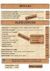 Menu La Paillote - Moules et plats chauds
