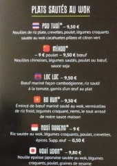 Menu Little asia - Les plats