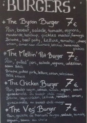 Menu The Meltin' Pot - Les burgers