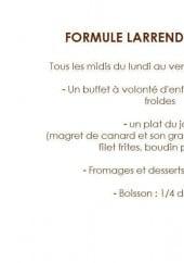 Menu Brasserie Larrendart - La formule