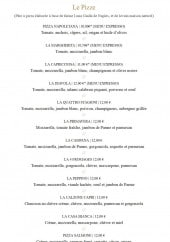 Menu Les Italiens - Les pizzas