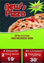 Menu New's Pizza - Carte et menu New's Pizza Biscarrosse