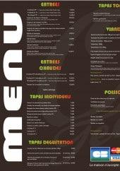 Menu Or du temps - Les entrées, tapas, plats et menus