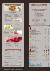 Menu Or du temps - Les glaces, desserts, fromages et vins