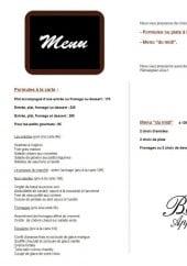Menu L' Auberge du Château - Les menus, les formules...