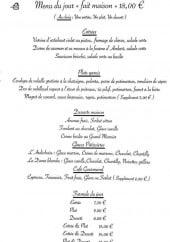 Menu Aux deux pommes de pin - Exemple de menu du jour