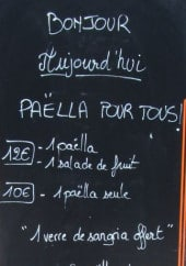 Menu Brèves de table - Exemple de menu du jour