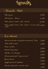 Menu L'éphémère - Formules midi et desserts