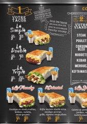 Menu Le frenchy - Tacos