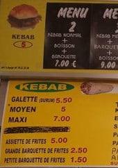 Menu Aksaray Kebab - Formules, sandwiches, menus...