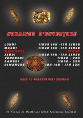 Menu Sofra 42 - Carte et menu Sofra 42 Andrezieux Boutheon