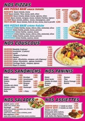 Menu Le Carthage - Les pizzas, couscous,....