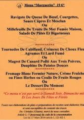 Menu Le Relais Fleuri - Menu marguerite
