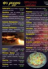 Menu La Sicilia - Pizzas