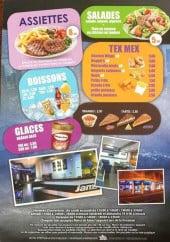 Menu Jam chaud - Les assiettes, tex mex, salades glaces et boissons
