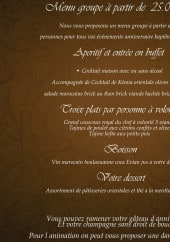 Menu Le Comptoir Marrakech - Menu groupe
