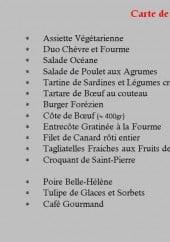 Menu La table - Les entrées, plats et desserts