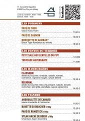 Menu La Distillerie - Les plats et formules