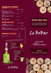 Menu Le Bobar - Les vins