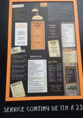 Menu Café du commerce - Les entrées, salades...