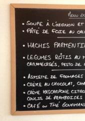 Menu Chez Ta Mère - Exemple de menu