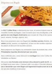 Menu Coffee Shop - Les bagels