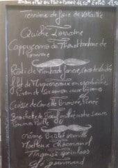 Menu La P'tite Ardoise - Exemple de menu