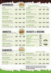 Menu Le Zitouna - Les hamburgers, les sandwiches ...