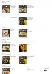 Menu Nandi - Les menus